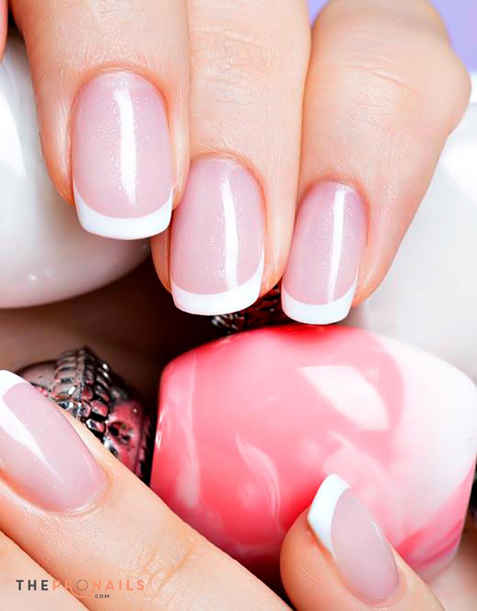 Sandy Nails Spa Pink White Full Set